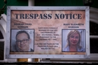The trespass notices have been put up outside the Thai Friends restaurant and other premises in Parnell. Photo / Dean Purcell