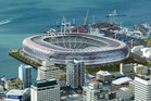 An artists impression in 2006 of a Waterfront Stadium for Auckland.