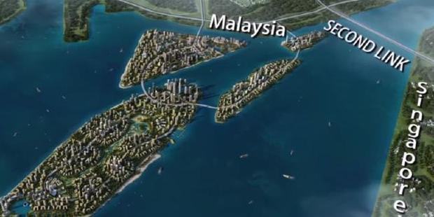 Malaysia's $60 billion Forest City is making Singapore uneasy.