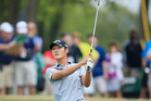 Danny Lee plays a shot to the first green during the first round of the World Golf Championships-Dell Match Play. Photo /Getty
