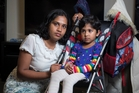 Shravani Bompelli, with Sameeksha, 3, says the bus wasn't busy enough for her to need to fold her stroller down. Photo / Greg Bowker
