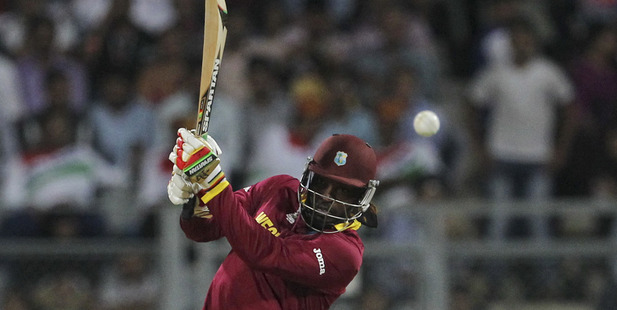 Chris Gayle in action for the West Indies. Photo / AP