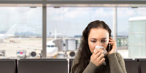 Bugs can be spread easily through air travel - particularly on longhaul flights. Photo / iStock