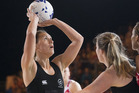 Jodi Brown in action for the Silver Ferns.