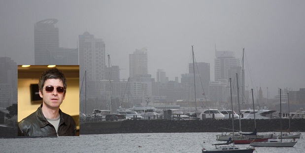 Auckland weather has rained on Noel Gallagher's parade. Photo / Chris Loufte