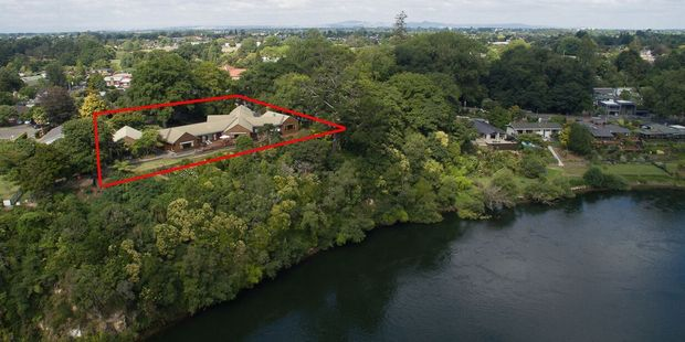 The centrally located property, just off Hamilton's River Rd, is being sold by tender next month. Photo / Jason Tregurtha