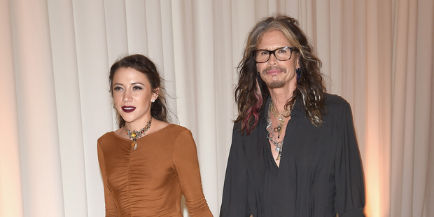 Steven Tyler, 67, and his girlfriend and personal assistant Aimee Ann Preston have moved in together. Photo / Getty