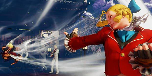 Ka-blam! Karin's special move, easy to pull off in training mode, never quite hits in real games. Image / Capcom