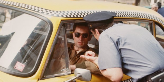 Actor Robert De Niro as as Travis Bickle in Taxi Driver, directed by Martin Scorsese, 1976. Photo / Getty