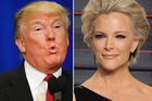 Fox News anchor Megyn Kelly (right) is one of Donald Trump's (left) favourite targets. Photo / Getty Images