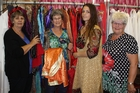 Wardrobe assistant Shirley Omundsen (left), wardrobe mistress Joy Murdoch, cast member Marama Stretch and wardrobe assistant Diane St Merat. Photo / Christine McKay