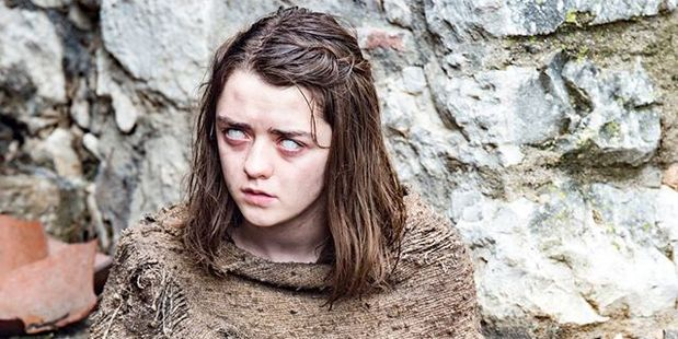 Maisie Williams as Arya Stark in the sixth season of Game of Throne.