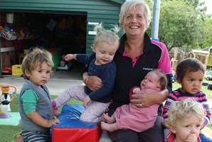 Helena Beatson, the head teacher at Dannevirke's First Years Preschool's under-2 area, is retiring after 25 years at the centre. Photo / Christine McKay