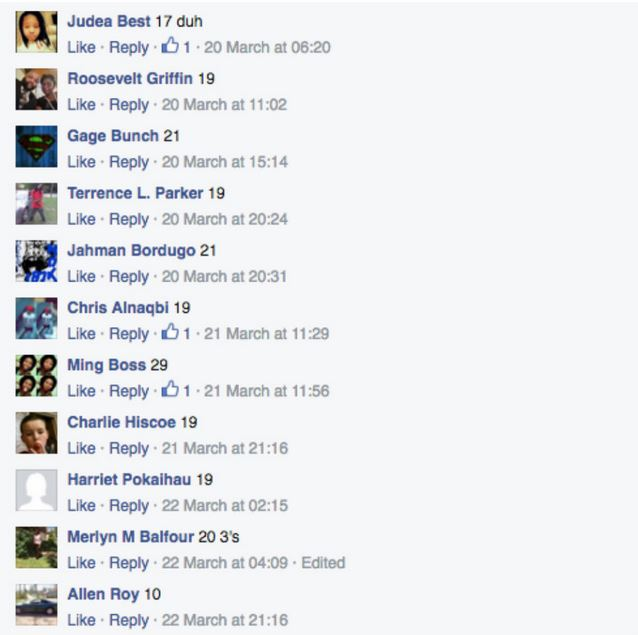 Commenters offered a wide range of numbers. Photo / Facebook