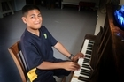 AJ Malili-Malo-Lauano a young musician, Wednesday, March 30, 2016 Wanganui Chronicle photograph by Bevan Conley.