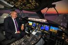David Morgan still loves getting back on the flight deck. Photo / Brett Phibbs