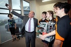 SCIENCE: US ambassador Mark Gilbert gets a selfie with students at the House of Science.PHOTO/ANDREW WARNER