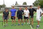 From left, Brian McCoskery, Tom O'Sullivan, Mark Houghton, Ross Clayton, Mike Foster and Elliott Peacock, six of the 10 players who competed in the Hawke's Bay men's premier reserve interclub competition. Photo / Nickie Harper