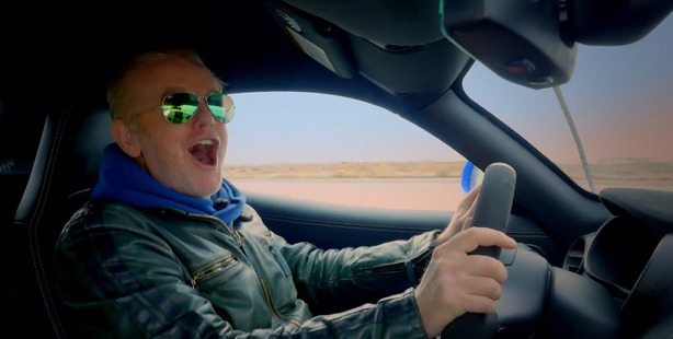 Loading New host Chris Evans in a scene from the upcoming season of Top Gear.