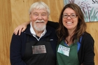 John Silvester (the sheep apprentice) and his daughter Kirsty. Photo / Christine McKay