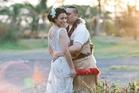 Natasha and Metui Finau on their wedding day. Photo / Qiane Matata-Sipu