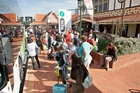 Tourists are pictured here packing up and leaving town from Rotorua's i-Site after a big weekend in the city. Photo / Ben Fraser