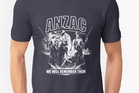 NOT ON: Redbubble's ANZAC T-shirts, which have angered the Returned Services Association.