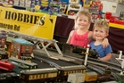 Rosie, 4, and Isaac Baker, 2, enjoyed the Rotorua Model Train Show over the long weekend. Photo / Ben Fraser