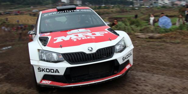 Fabian Kreim and Frank Christian will contest the 2016 International Rally of Whangarei. Photo / SKODA Motorsport