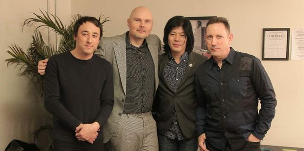 James Iha, second from right, has performed with the Smashing Pumpkins for the first time in 15 years. Photo/Twitter