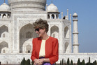 The Princess of Wales outside the Taj Mahal in Agra in 1992. Photo / Getty Images
