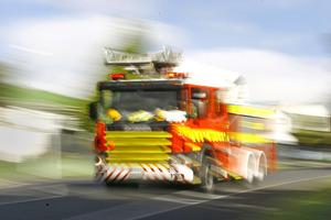 Fire crews were called to the blaze around 3.20pm. Photo / File