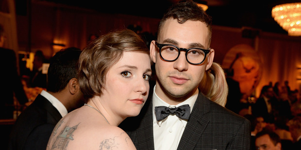 Actress/writer Lena Dunham and musician Jack Antonoff. Photo / Getty Images