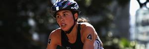 Andrea Hewitt races in the ITU World Triathlon Elite Women's 2014 in Auckland. Photo / Getty Images