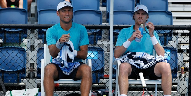 Marcus Daniell and Artem Sitak at the Australian Open in January. Photo / Getty Images