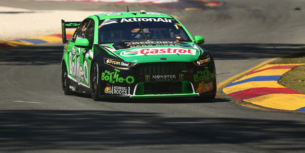 Mark Winterbottom during practice for the V8 Supercars Clipsal 500 at Adelaide. Photo / Getty Images