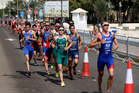 The Elite Men's race take place during the 2016 ITU World Triathlon Abu Dhabi. Photo / Getty Images
