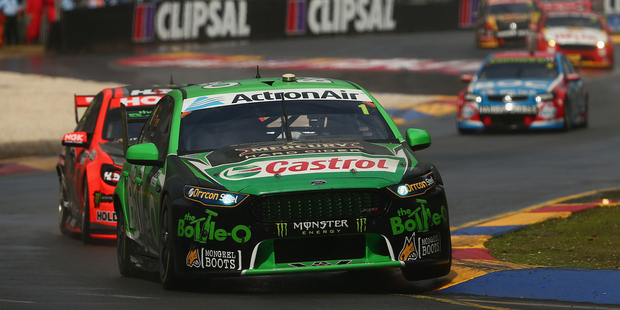 Mark Winterbottom during race three of the V8 Supercars Clipsal 500. Photo / Getty Images