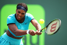 Serena Williams against Svetlana Kuznetsova during the Miami Open. Photo / Getty Images