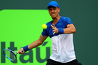 Tomas Berdych playing against Richard Gasquet during the Miami Open. Photo / Getty Images