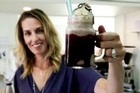 Tessa Flowers-Morrell owner of Lulu and Max cafe, Hastings and creator of the best chocolate milkshake in NZ. 29 March 2016. Hawke's Bay Today photograph by Warren Buckland