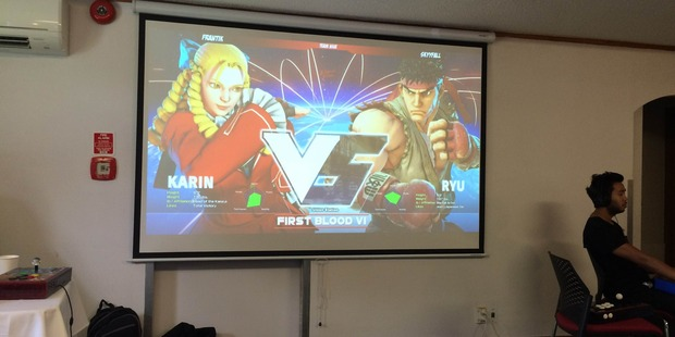 Karin vs Ryu. My game was made available for everybody to laugh at. Photo / Ash Lambert