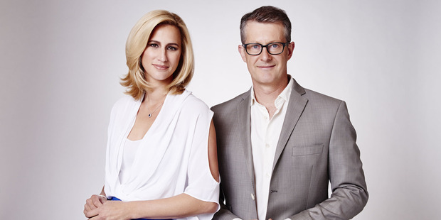 Pippa Wetzell and Gordon Harcourt  are back - somewhere near the TVNZ lifts - for Fair Go's new season. Photo / Supplied
