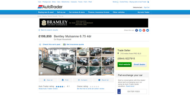 The post on Auto Trader.