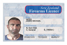 Police are investigating a series of alleged illegal firearms purchases involving an individual using a forged firearms license. The license is in the name of James Michael Yates. Photo / Supplied