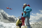 New Zealand mountaineer Russell Brice near Everest Base Camp in a scene from the documentary Sherpa.