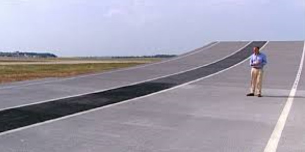 Christchurch Airport is considering a runway with ramps. Photo / Supplied