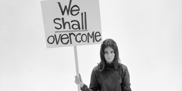 One of the founders of the modern feminist movement Gloria Steinem.