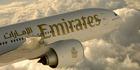 Emirates' Boeing 777-200LR Auckland to Dubai.