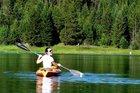 Storm Halkett kayaking in Washington State. Photo /Storm Halkett